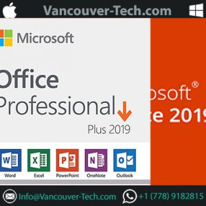 Microsoft Office 2019 Professional Plus Edition for Windows 10 – 1 License