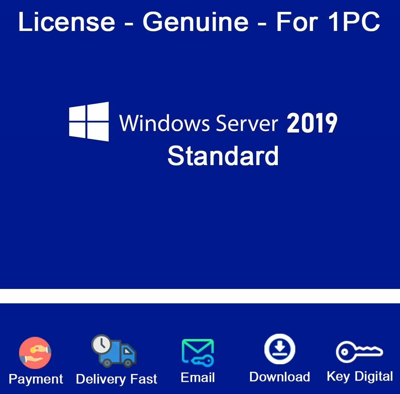 Windows Server 2019 Standard 64-bit Genuine License Key ...