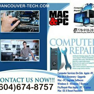 Kelowna Apple Mac Station PC Computing tech support