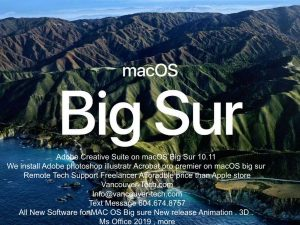 Premiere Photoshop, Apple Silicon, and Big Sur | macOS 11 – Adobe Stay up to date on how Adobe apps such as Photoshop, Lightroom, Illustrator, install in macOS Big Sur (macOS 11).
