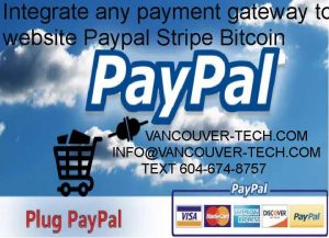 VANCOUVER BC CANADA BITCOIN PAYPAL STRIPE WORDPRESS WEB DESIGN Integrate any payment gateway to your website Paypal Stripe BitcoinWhat you get with this OfferPlease CONTACT before buying this offer (especially if you have hosted platforms such as Shopify, Wix or Squarespace website)! Also, please note that Shopify doesn't support PayPal Smart Button.I have advanced expertise in PayPal integration. I will integrate PayPal checkout on your website, blog or shopping cart.I can do simple PayPal button integration, donate button integration, IPN configuration as well as advance such as Express Checkout, etc.You Can Get:-- Buy now button- Donate Button- Simple PayPal Integration- Express Checkout- IPN Configuration and Setup- Fast deliveryOrders & payments are only accepted via PPH.Please Note:While sending a message, DO NOT write PayPal workaround.