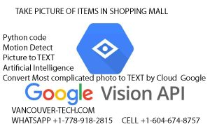OCR Software installation Character Recognition (Artificial intelligence) AI Python Code Canada Vancouver - Toronto Shop Super market online innovate inventory system