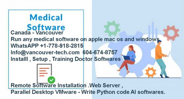 We will install any doctors software emr .msp , profile on your macbook . Most medical Softwares available is windows version But Most doctors prefer to buy M1 macbook new apple chip such as macbook air m1 which light and easy to carry on and then we can assist medical center or doctors for installation all softwares on their macbook . Jane is an online platform forhealthand wellness practitioners that makes ... and supported by an enthusiastic (and growing) team in NorthVancouver,BC We are the owner and operator of the largest single chain network of primary care clinics inBritish Columbia. Additionally, we provideEMR(Electronic... he future ofhealthcareis Bright! We design and buildsoftwaresolutions to deliver the best patient and provider experiences. 3MCanada HealthInformation Systems delivers innovativesoftwareand consulting services from computer-assisted coding (CAC) to ...Vancouver BCV6K 1X2 Accuro was developed inBritish Columbiaand is still supported byEMRexperts located in our Kelowna andVancouver,BCoffices. Search 573Medical SoftwareCompany jobs now available inVancouver,BCon Indeed.com, the world's largest job site.Vancouver,BCNovember 20, 2018 - AyogoHealthInc., a world-leading vendor of digitalhealthand patient engagement products and services, Pain-freemedicalbilling for doctors. Stop using paper, index cards and clunkysoftware MSP- our web & mobile apps make billing simple. Save time & earn more. A small centralVancouverIslandmedicalapplicationssoftwarecompany ... by theB.C.Centre for Disease Control's contact tracing staff... Digital health solutions and technology in Canada is...StarFishMedicalisCanada'slargestmedicaldevice design, development and contract manufacturing company. We help medtech innovators throughout North... Medical Softwarejobs now available inVancouver,BCon Indeed.com, the world's largest job site.Credible COVID-19 resources developed with theBCMinistry ofHealthand theBC... other digitalhealthcompanies by designing oursoftwarein